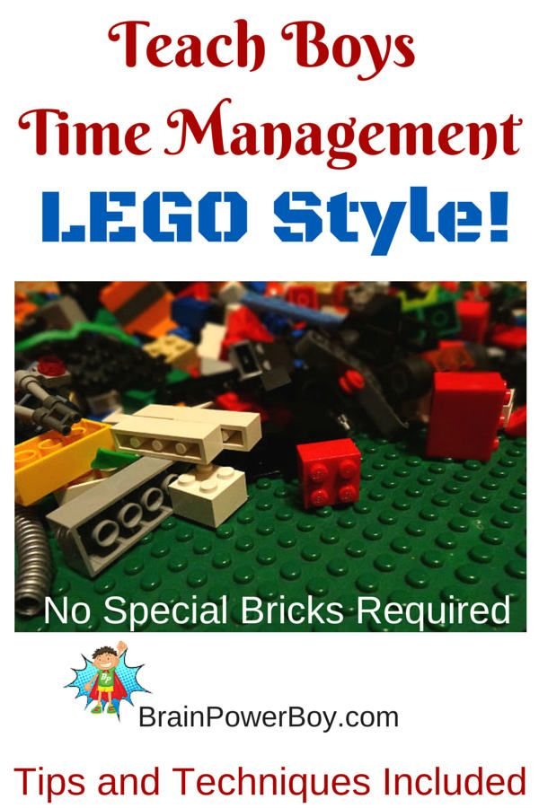 Use LEGO to teach boys time management. Brilliant! This is so easy and is great for helping boys learn about time, have easier transitions between activities, help them in their homeschooling by keeping track of the time they spend on specific activities  and more.