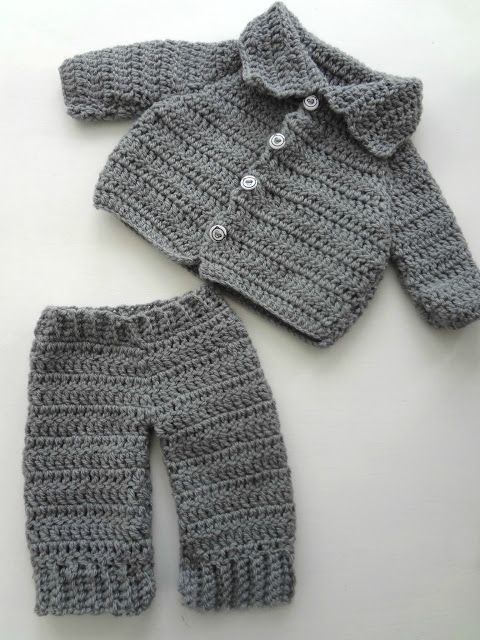 Crocheting baby gifts: free pattern for cardigan by Lion Brand