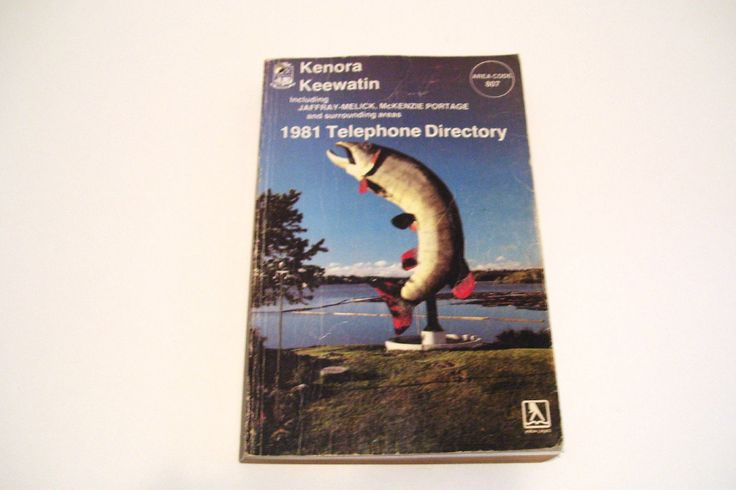 1981 Kenora Keewatin Telephone Directory Area Code 807 Ontario Canada Phone Book by okanaganvintage on Etsy