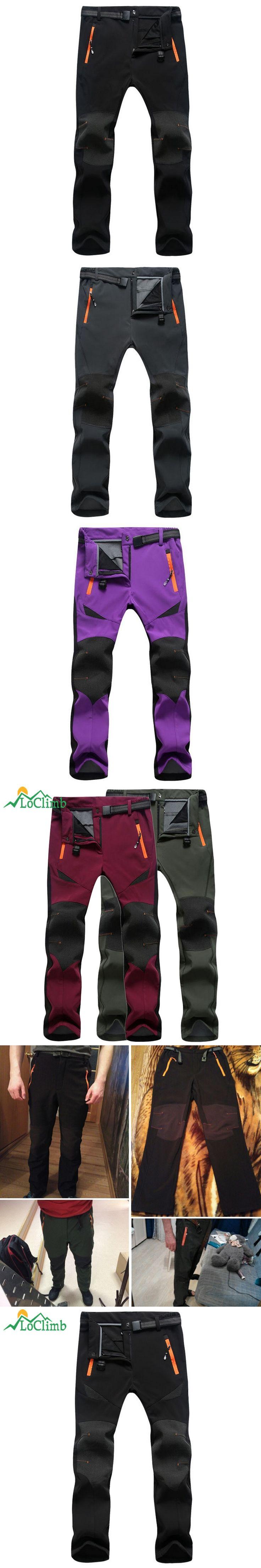 LoClimb 2017 Winter Stretch Waterproof Ski Pants Women Men Trekking Climbing Trousers Outdoor Sport Softshell Hiking Pants,AM108