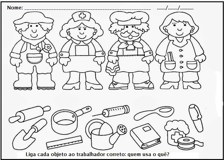 19 best Community Helpers Printable Worksheets for Kids