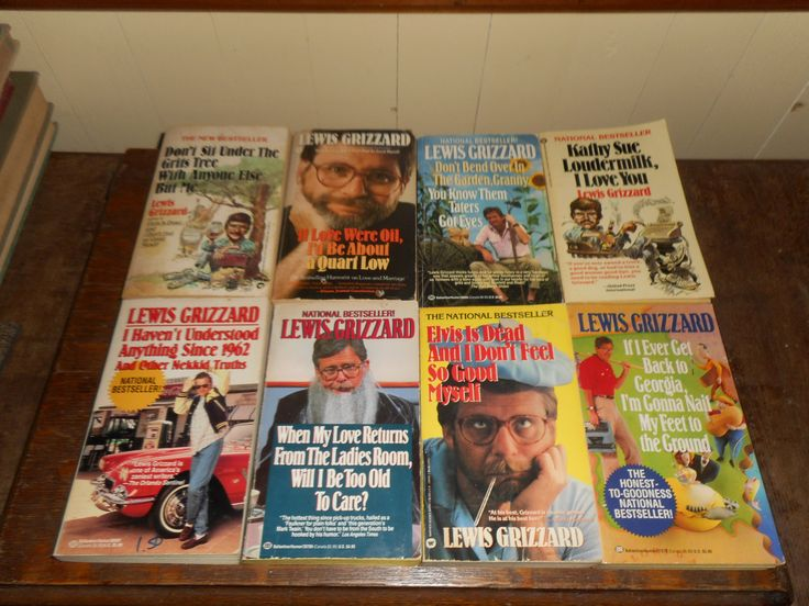 8 Lewis Grizzard Softcover Books National Bestsellers  Southern Humor by wittlebittytreasures on Etsy