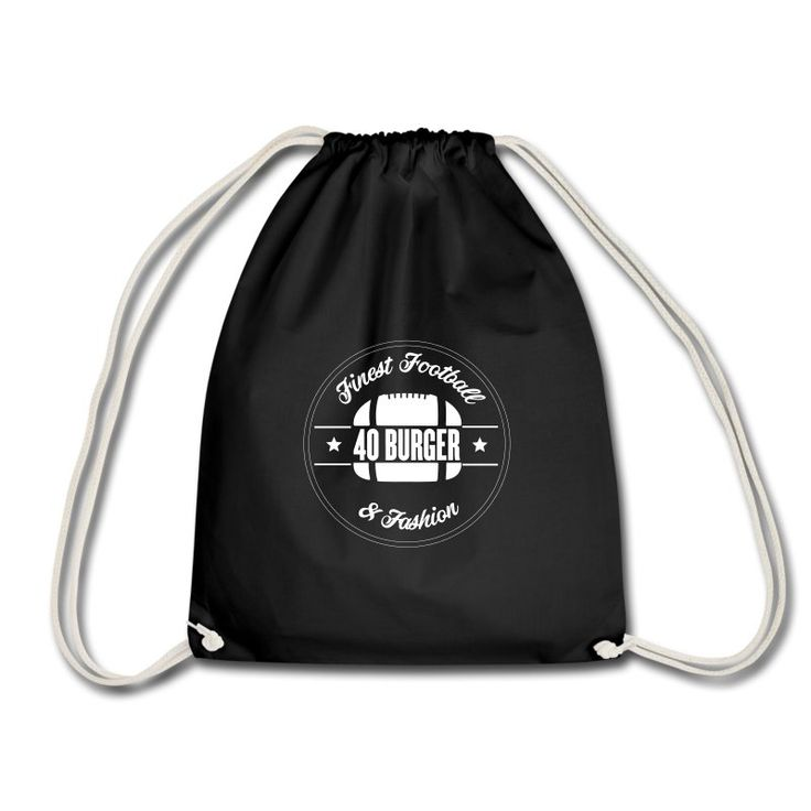 Offical 40 Burger Gym Bag // Finest Football & Fashion. #americanfootball #football #40burger #40b #nfl #rannfl #gym #gymbag #turnbeutel #streetwear