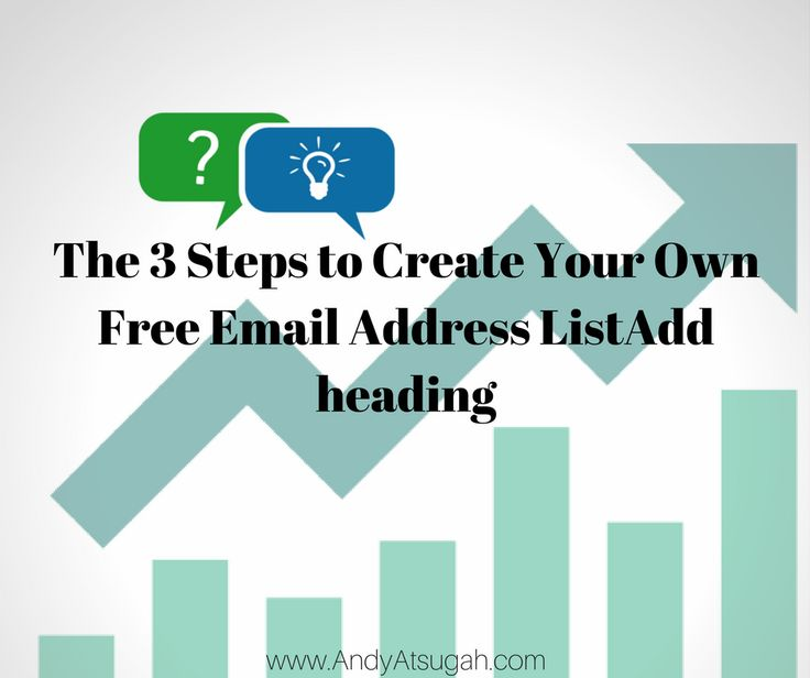 How to Create Your Own Free Email Address List
