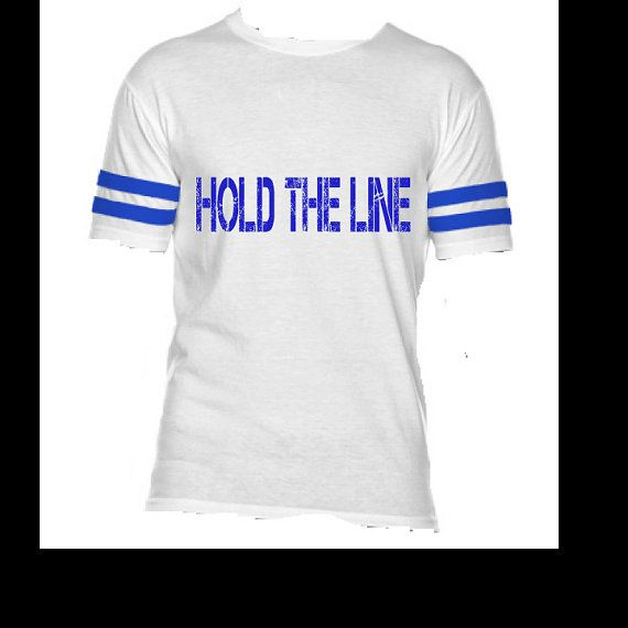 Hold the Line  Police Shirt Thin Blue Line Law by StampedbyShaye