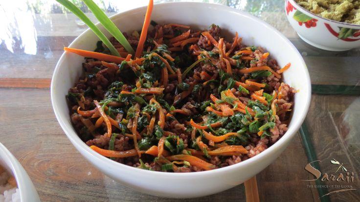 Healthy organic heirloom red rice