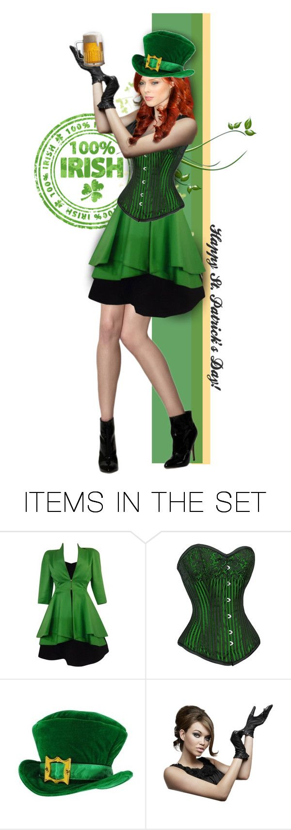 """Happy St. Patrick's 2016!"" by anna-nemesis ❤ liked on Polyvore featuring art, Irish, stpatricksday and 2016"