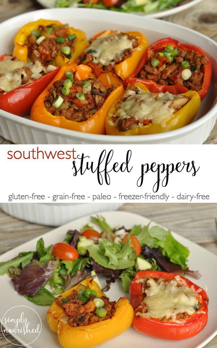Southwest Stuffed Pepper | http://simplynourishedrecipes.com/southwest-stuffed-peppers/