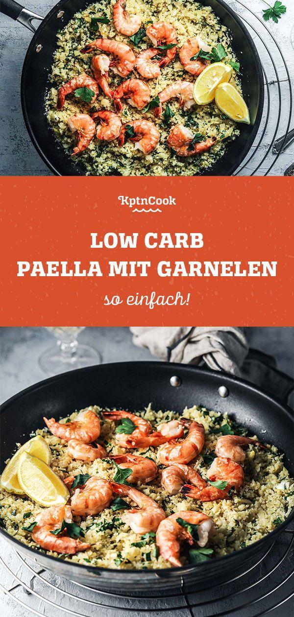 low carb paella mit garnelen rezept paella rezepte