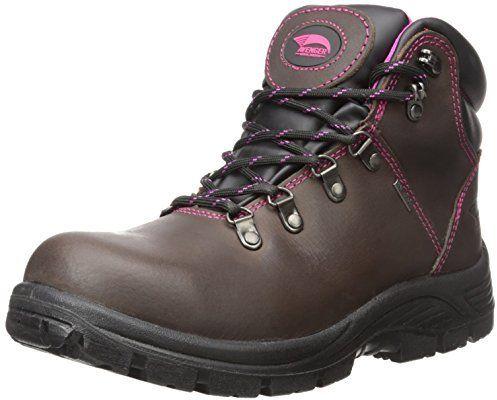 Avenger Safety Footwear Avenger Women's 7125 Leather Waterproof EH Slip Resistant Steel Toe Work Boot