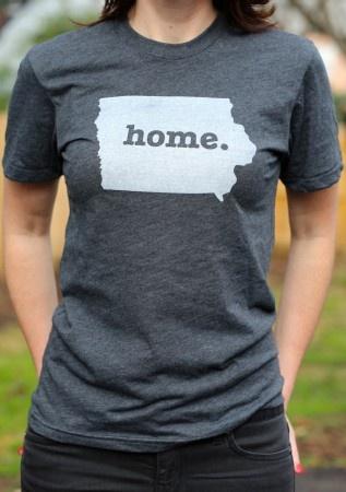 Iowa Home T-shirt. I love this tee I need it before I move to Georgia.