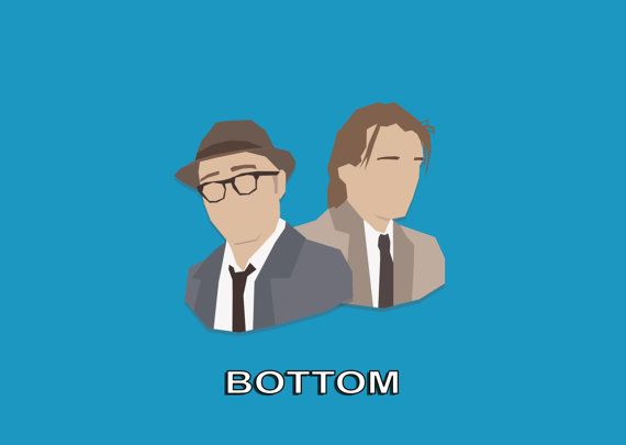 Bottom / Rik Mayall / Adrian Edmondson Poster Minimal Artwork by comedyquotes. Explore more products on http://comedyquotes.etsy.com