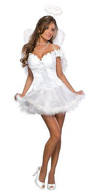 multi-colored, XS, Rubie's Official Ladies Heaven Sent Angel Sexy Adult Costume