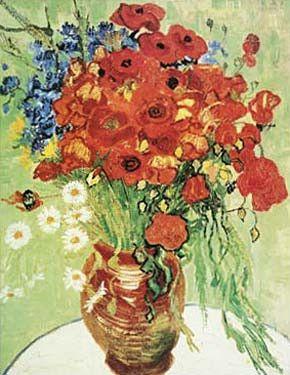 Vase avec marguerites et coquelicots by Vincent Van Gogh Fine Art Print