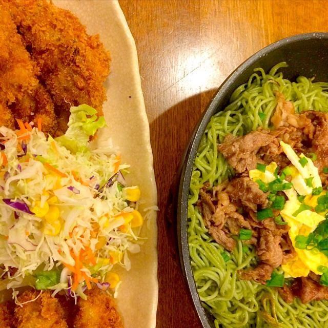 今日の晩ごはん お腹いっぱい*\(^o^)/* - 14件のもぐもぐ - 瓦そば&カキフライ by anjera@kato