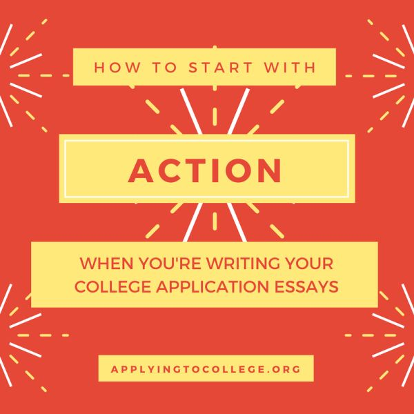 How to start a college admissions essay by step