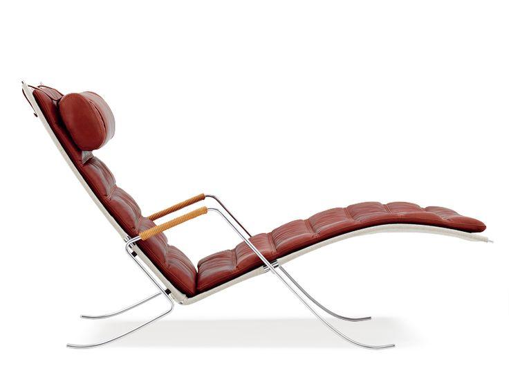 Lounge chair FK 87 GRASSHOPPER CHAIR by Lange Production design Preben Fabricius & Jørgen Kastholm
