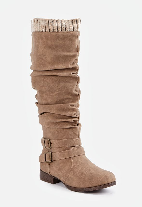 9863450cde3 Pilar Sweater Cuff Boot in Black - Get great deals at JustFab