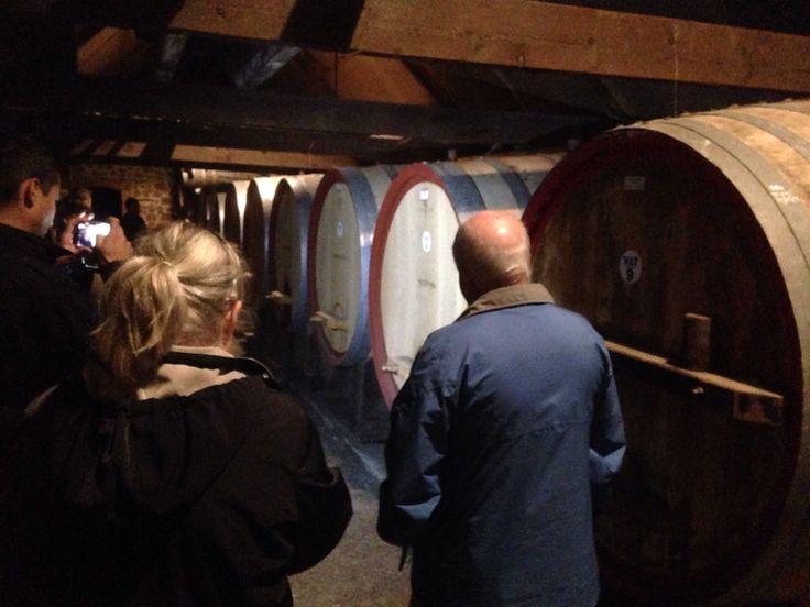 A private tour of Rockfords cellar... anyone for a basket press Shiraz?