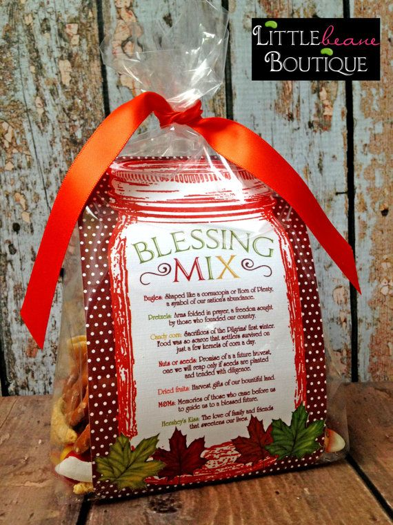 Printable Blessing Mix Favors, Blessing Mix Printable, DIY ...