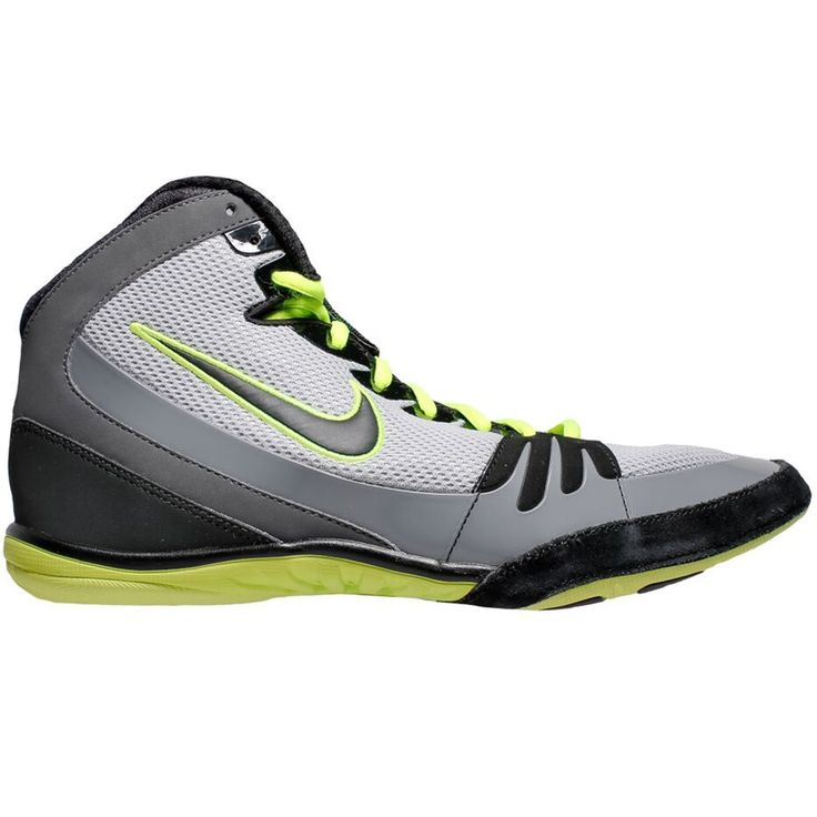 Nike Freek (Grey / Volt / Black) - Nike Wrestling Shoes - Wrestling Shoes - Shoes and Gear Blue Chip Wrestling