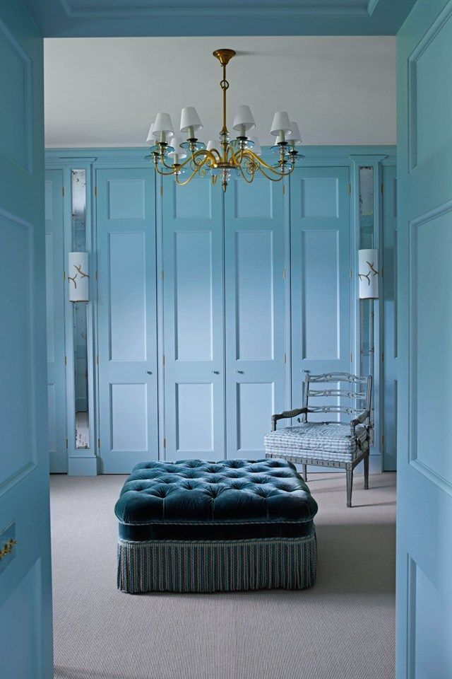 Stunning Parisian Walk In Closet With Mouldings And