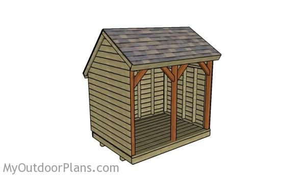Saltbox firewood shed plans outdoor shed plans free for Salt box shed plans