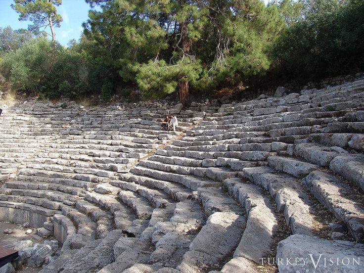 Theater in Phaselis. Phaselis is an ancient Lycian city, in the province of Antalya, Turkey. It became the most important harbour city of the western Lycia and an important centre of commerce between Greece, Asia, Egypt, and Phoenicia, although it did not belong to the Lycian League.