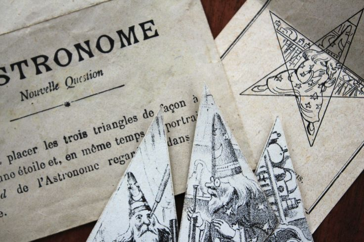 Antique French victorian puzzle/brain teaser game: the astronomer by LaChineuseFrancaise on Etsy