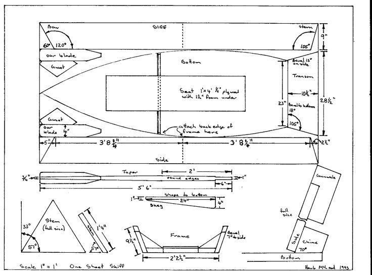 Sailing Skiff Plans One Sheet Skiff Free Plans | Goat Island Skiff | Pinterest | Boating ...