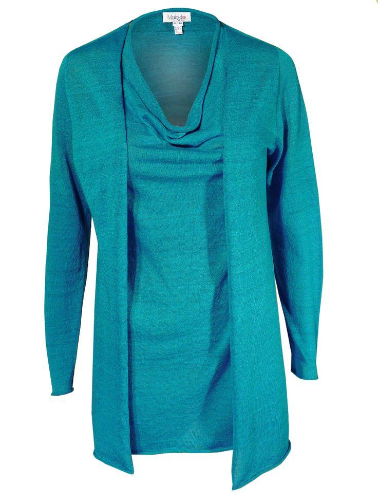 Twin set canotta e giacca in lino estivo colore blu pervinca
