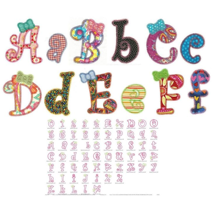 Sugar and Spice Applique Alphabet DBJJ543 Vintage stitch in 3 inch, 5 inch and 6 inch( 6 x 10 ) Includes BX
