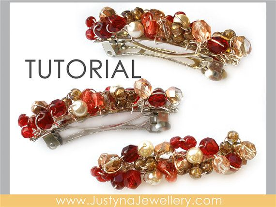 by JustynaJewellery, $4.99: Barrettes Beads, Beads Hair Clip, Hair ...