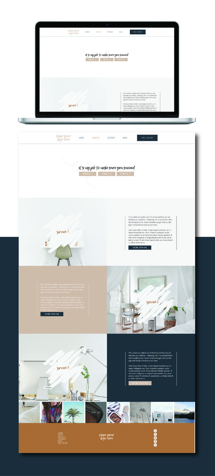 Wix Website Template Custom Template For Small Business Etsy Wix Website Templates Small Business Website Design Wix Website Design
