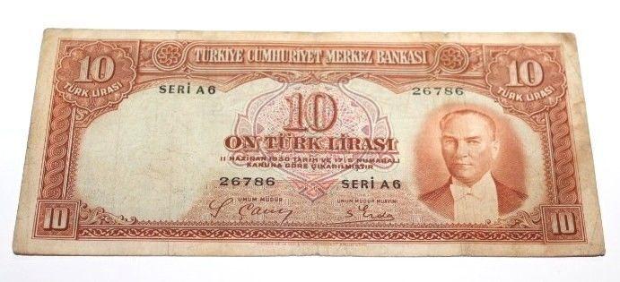 TURKEY2. EMISSION 10 LIRA