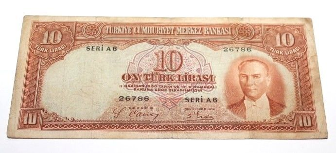 TURKEY2. EMISSION 10 LIRA
