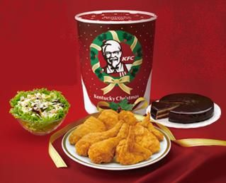 Eating Kentucky Fried Chicken is a Christmas Tradition for Many Japanese   The custom of eating KFC for Christmas is so popular in Japan that you'll not only see lines of people snaked outside every branch in the country, but people even reserve their buckets of chicken months in advance just to see it on their dinner tables on Christmas!