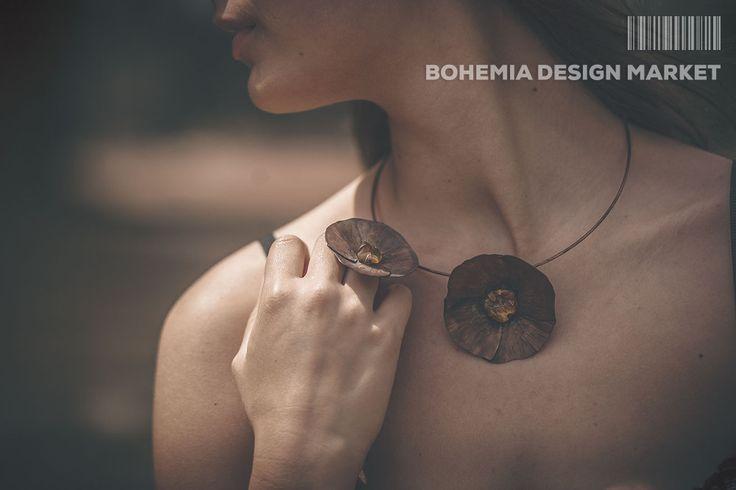 Amber Flower -ring&necklace- by AshaaDox<<  Enjoy Uniqueness & Quality of Czech Design  http://en.bohemia-design-market.com/designer/ashaadox
