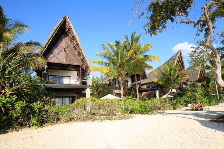 Beach side villas in Mauritius