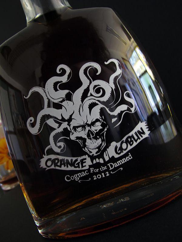 Orange Goblin band / Cognac for the Damned / Cognac's bottle / Sérigraphie 1 couleur / 1 ex. / 2012