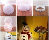 DIY Plastic Cup Snowman Tutorial