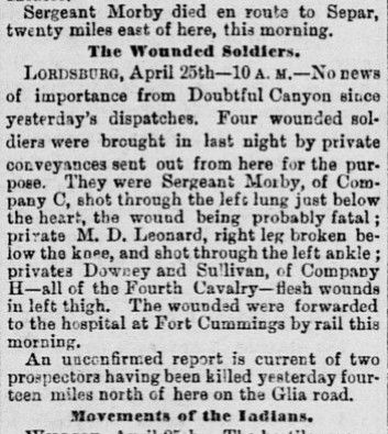 Newspaper report from the Sacramento Daily Record-Union, 26th April 1882. California Digital Newspaper Collection, Center for Bibliographic Studies and Research, University of California, Riverside