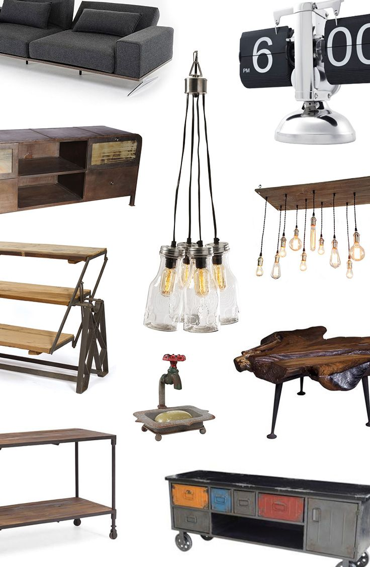 Industrial Chic Furniture & Décor | Up to 70% off at dotandbo.com