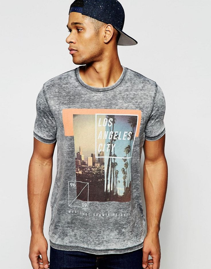 ASOS+Relaxed+T-Shirt+With+Burnout+And+LA+City+Box+Print