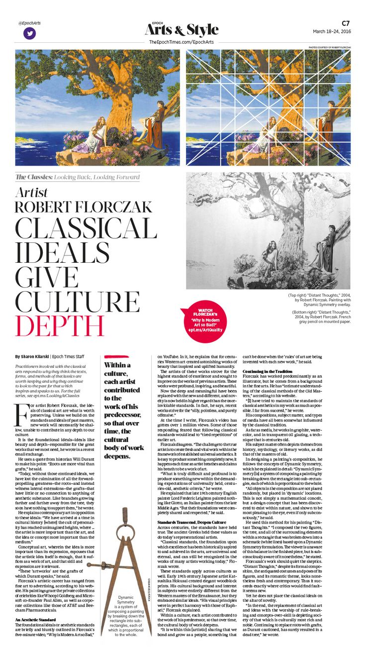 Artist Robert Florczak: Classical Ideals Give Culture Depth|Epoch Times #Arts #newspaper #editorialdesign