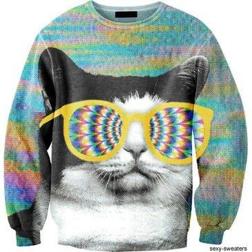 cat sweaters | cat, cats, hipster, retro, sweater - inspiring picture on Favim.com