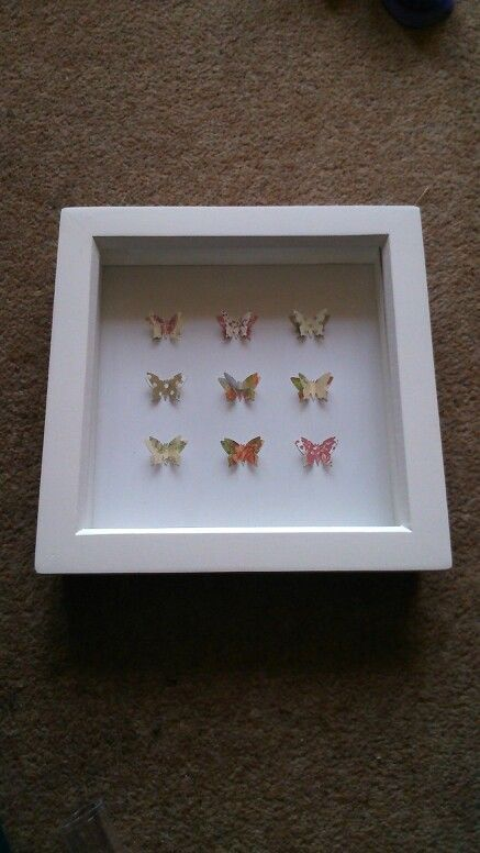 White box frame with 9 beautiful paper by sweetpeaandblue on Etsy, £15.00