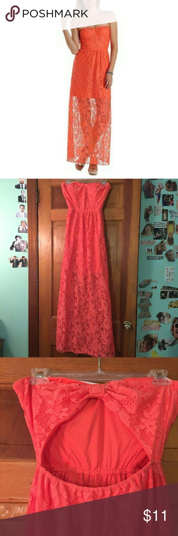 Lana lace maxi dress orange