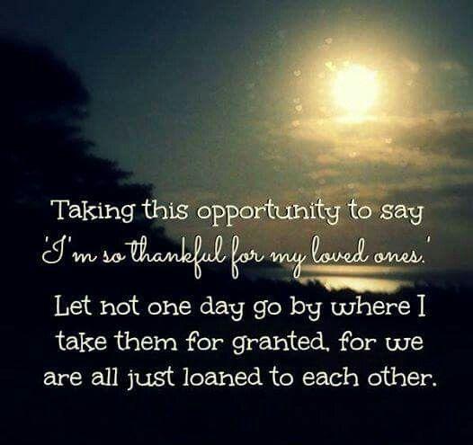 I'm Thankful....