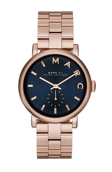 MARC BY MARC JACOBS 'Baker' Bracelet Watch, 37mm at Nordstrom.com. A cleanly styled face with a subseconds dial and logo indexes tops a high-polished bracelet watch with everyday versatility.